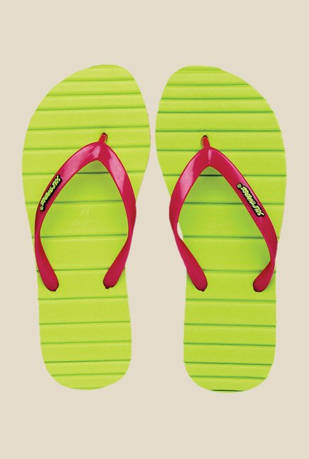 Solethreads Candy Pink & Lime Flip Flops