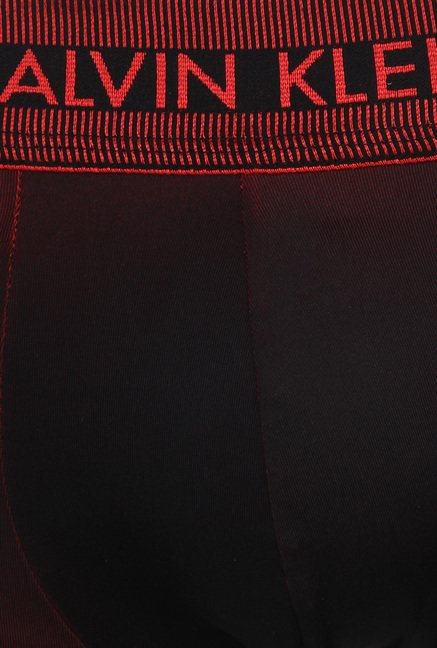 Calvin Klein Black & Red Trunks