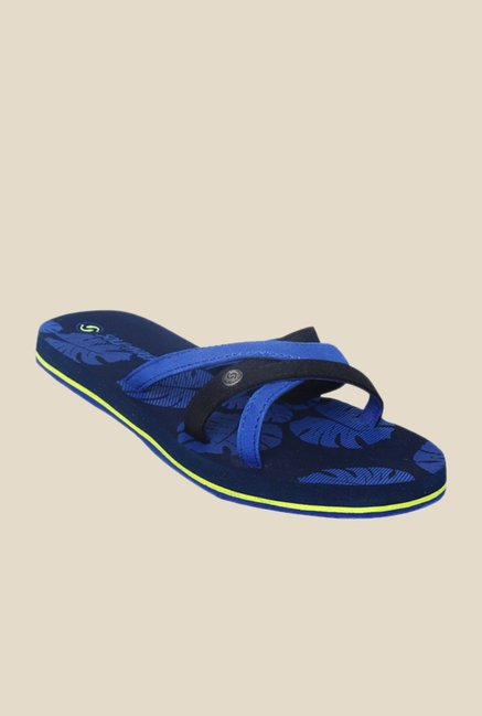 Solethreads Coco Navy & Royal Blue Flip Flops