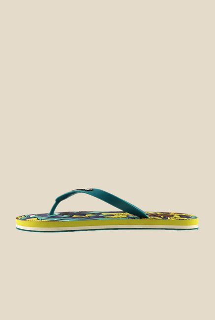 Solethreads Monster Teal Blue & Lime Flip Flops