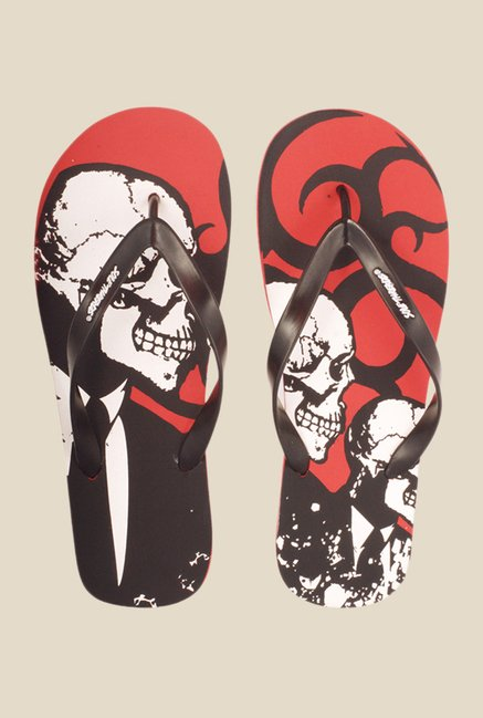 Solethreads Dark Knight Black & Red Flip Flops