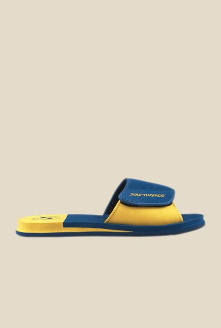 Solethreads Freeway Royal Blue & Yellow Flip Flops