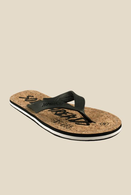 Solethreads Duke Black & Brown Flip Flops