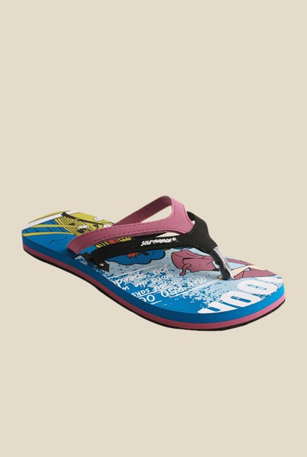 Solethreads In Time Black & Pink Flip Flops