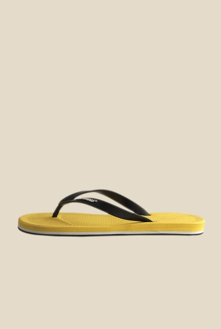 Solethreads Gripster Black & Yellow Flip Flops