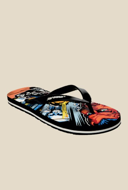Solethreads Biker Boys Black Flip Flops