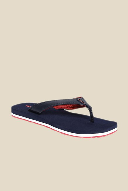 Solethreads Health Navy & Red Flip Flops