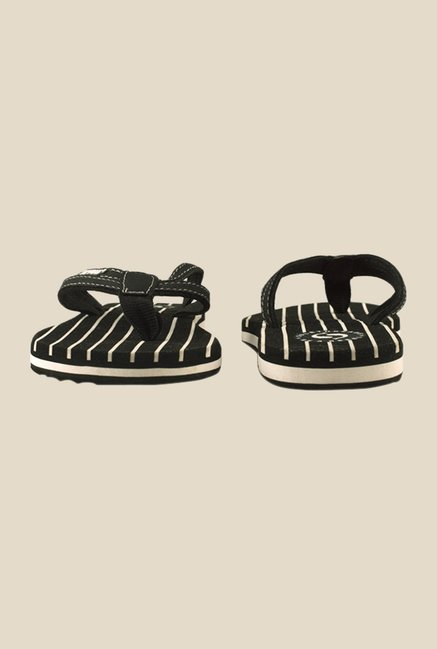 Solethreads Stripes Black Flip Flops