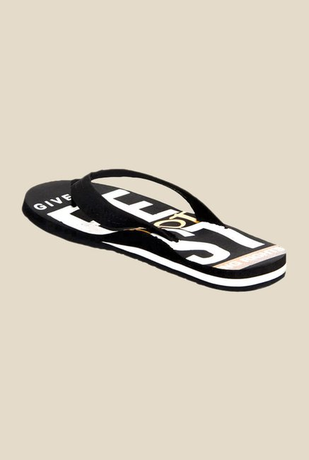Solethreads Hope Black Flip Flops