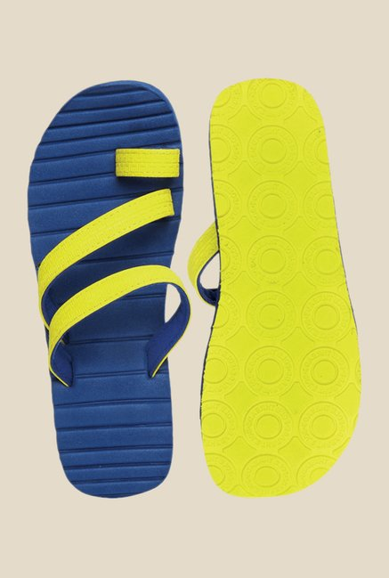 Solethreads Caesar Yellow & Royal Blue Flip Flops