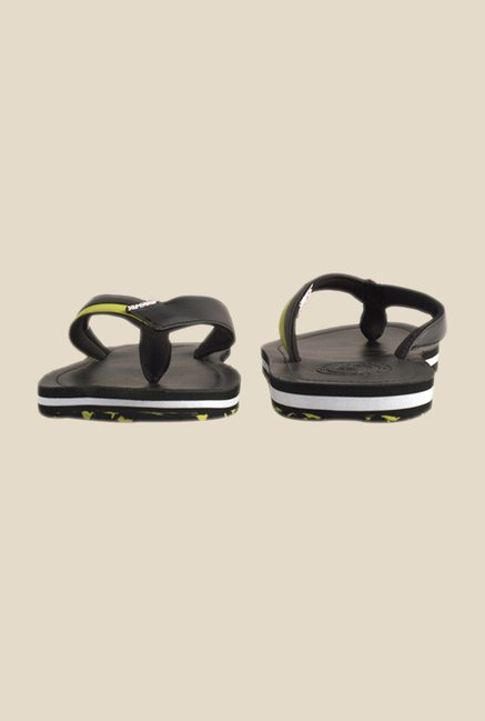 Solethreads Falcon Black & Green Flip Flops