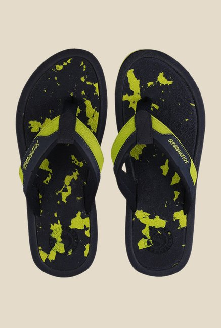 Solethreads Splash Navy & Green Flip Flops