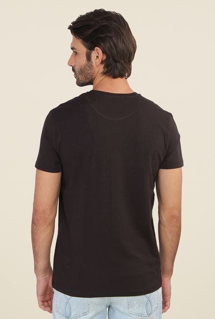 Calvin Klein Black Printed Short Sleeve T Shirt