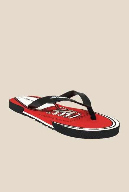 Solethreads Black & Red Flip Flops