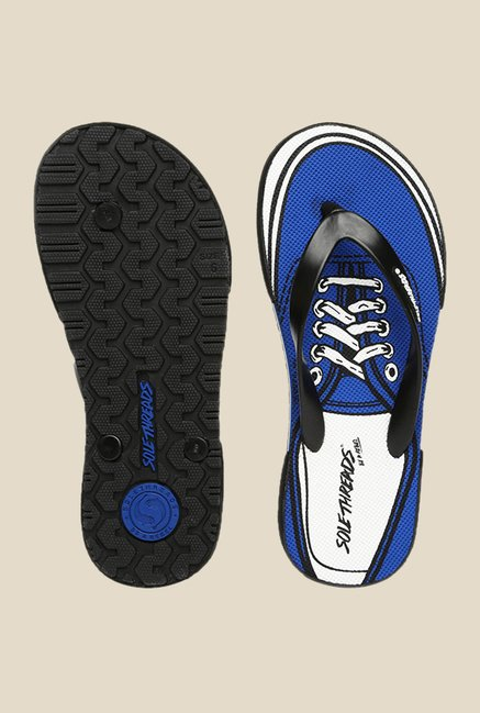 Solethreads Black & Royal Blue Flip Flops