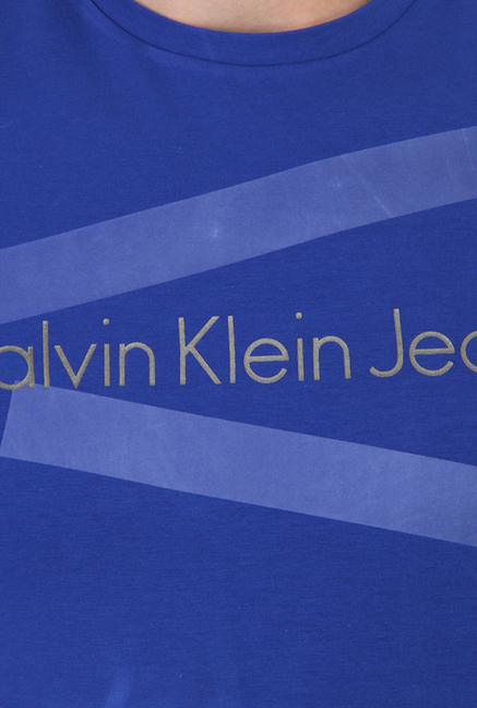 Calvin Klein Blue Graphic Print T-Shirt