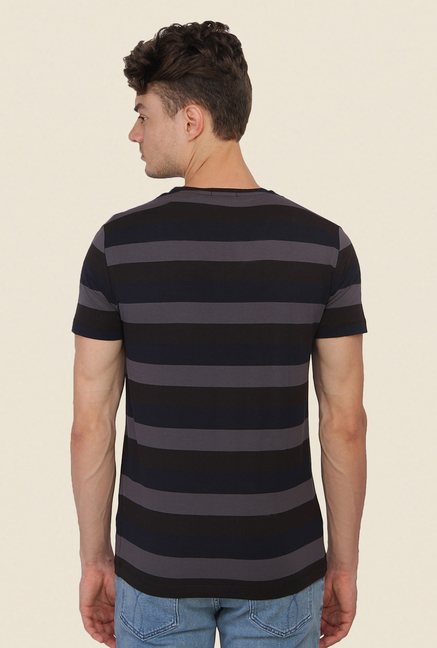 Calvin Klein Black & Grey Striped T-Shirt