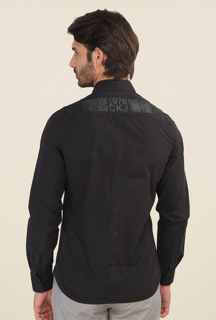 Calvin Klein Black Solid Full Sleeve Shirt