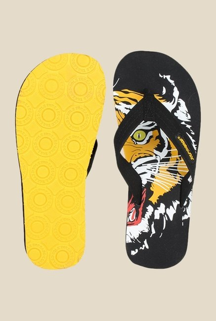 Solethreads Tiger Black Flip Flops