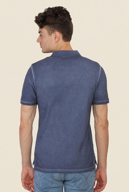 Calvin Klein Grey Solid Polo T-Shirt