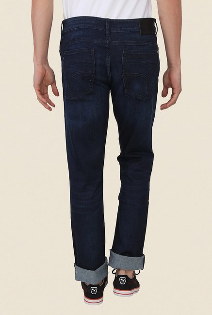 Calvin Klein Dark Blue Light Wash Skinny Fit Jeans