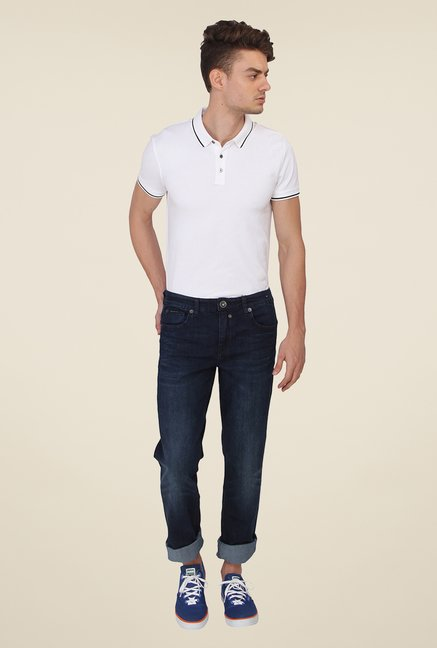 Calvin Klein Dark Blue Light Wash Jeans