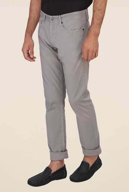 Calvin Klein Grey Solid Chinos