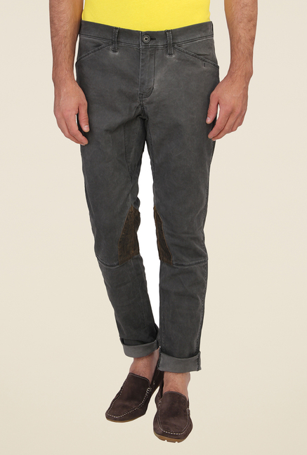 Calvin Klein Grey Lightly Washed Solid Jeans