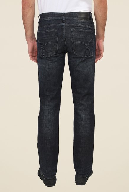 Calvin Klein Black Lightly Washed Solid Jeans