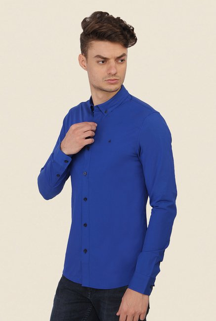 Calvin Klein Royal Blue Solid Shirt