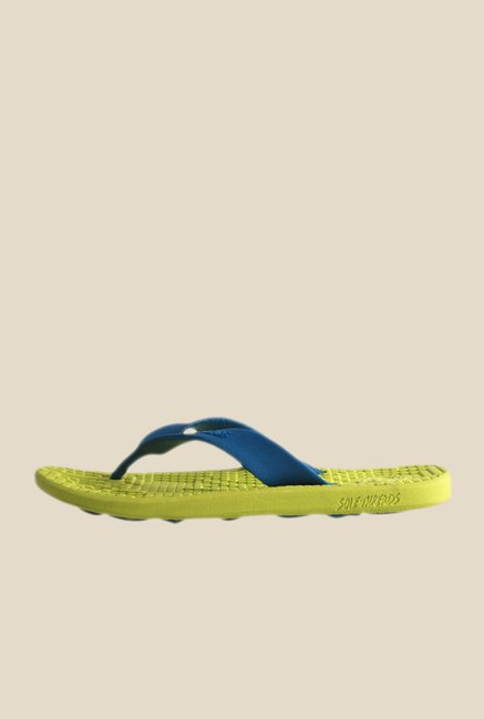 Solethreads Everlast Blue & Lime Green Flip Flops