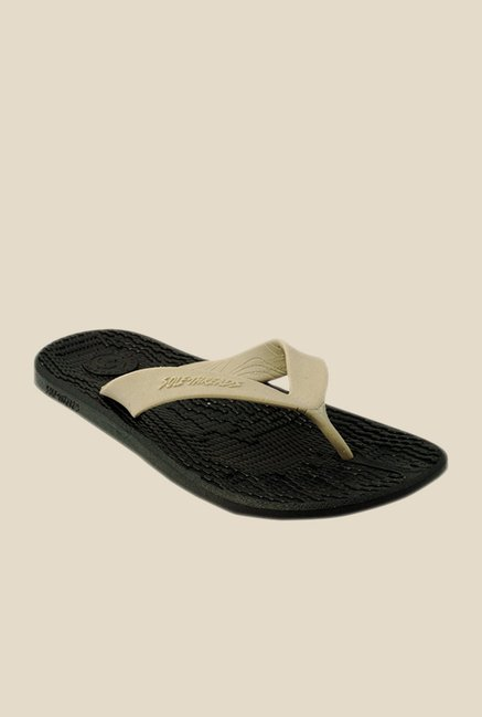 Solethreads Everlast Khaki & Black Flip Flops