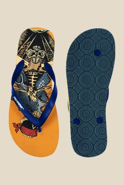 Solethreads Bandana Blue & Orange Flip Flops