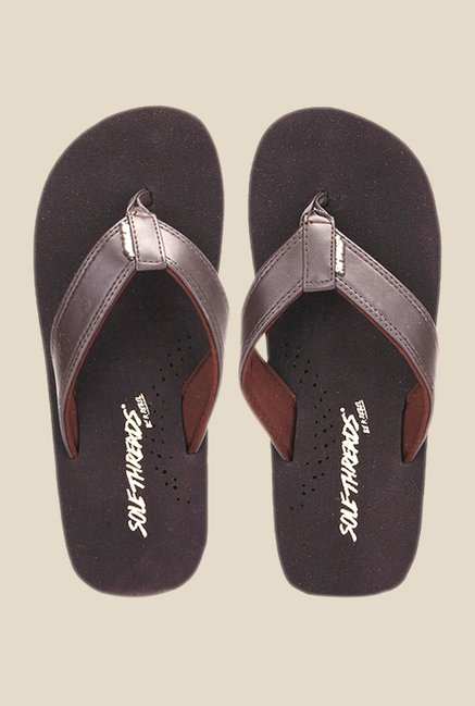 Solethreads Health Brown Flip Flops