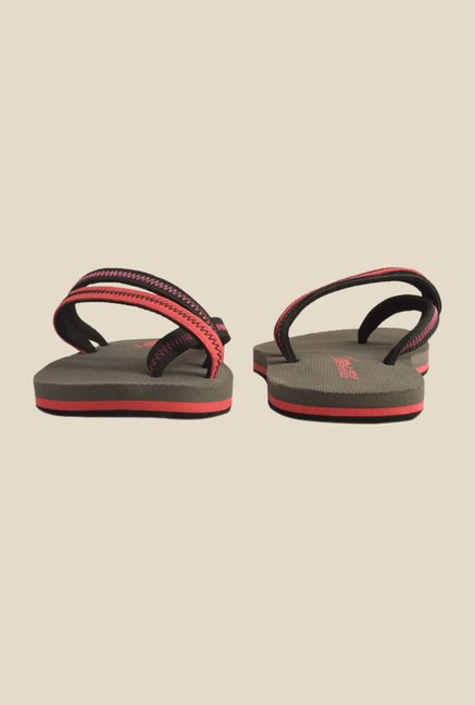 Solethreads Stark Peach & Black Flip Flops