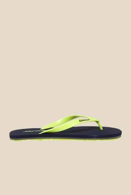 Solethreads St Basic Lime Green & Black Flip Flops