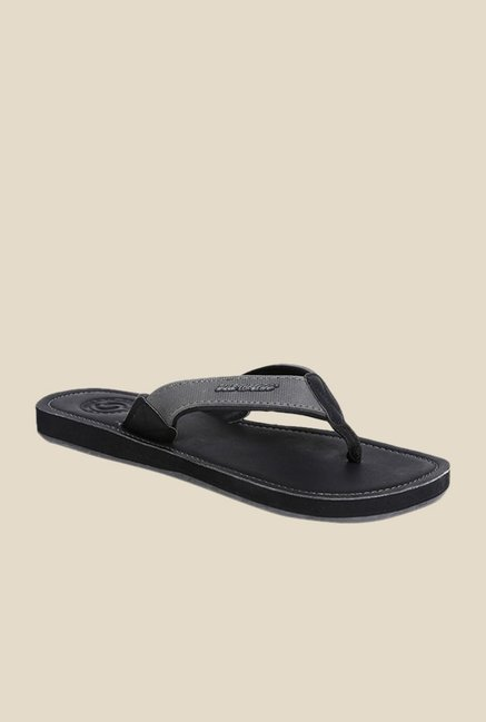 Solethreads Urbane Grey & Black Flip Flops