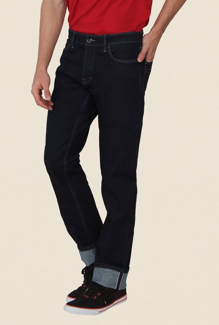 Calvin Klein Navy Solid Regular Fit Jeans