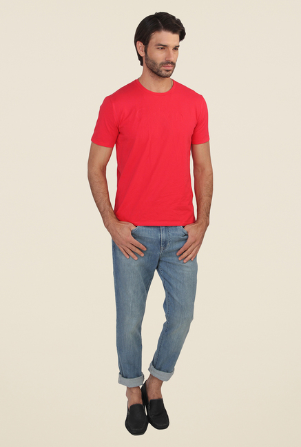 Calvin Klein Coral Solid T Shirt