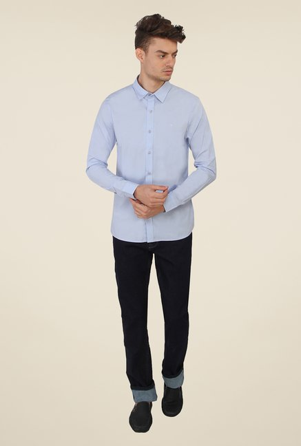 Calvin Klein Light Blue Solid Shirt