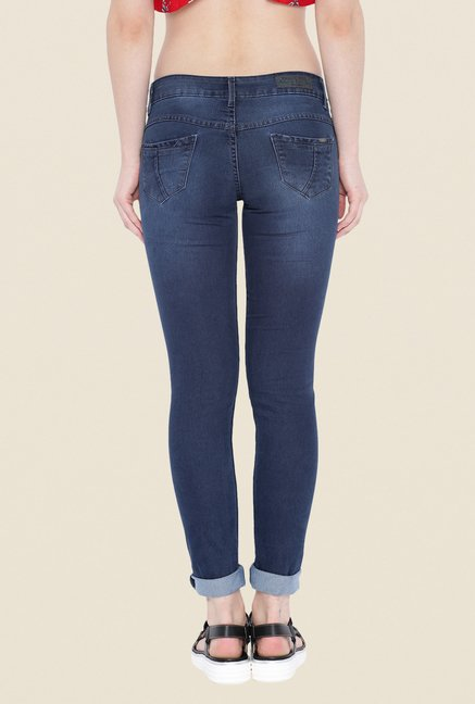 Kraus Blue Ankle Length Denim Jeans