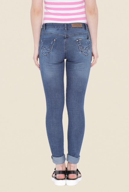 Kraus Blue Rinse Washed Denim Jeans