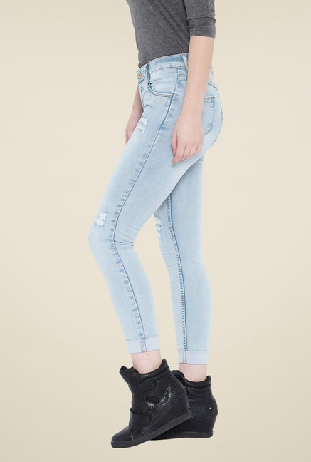 Kraus Blue Rinse Washed Ankle Length Jeans