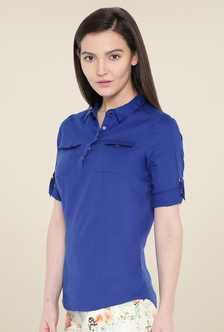 Kraus Royal Blue Solid Shirt