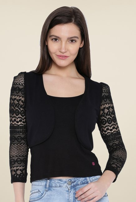 Kraus Black Solid Shrug