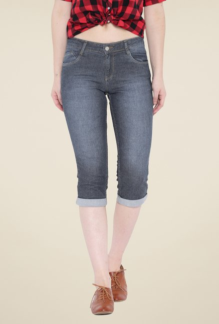 Kraus Grey Denim Capris
