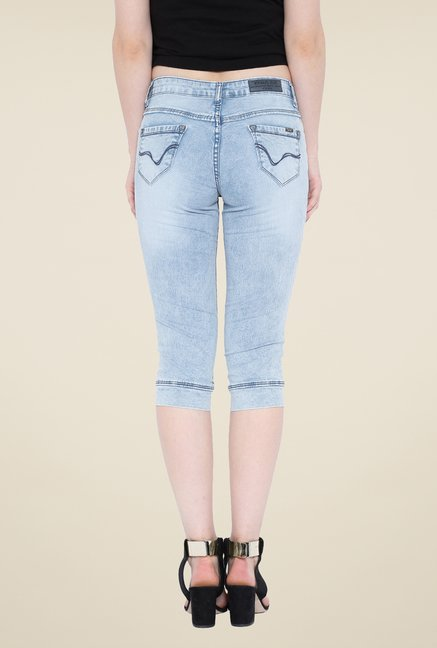 Kraus Light Blue Denim Capris