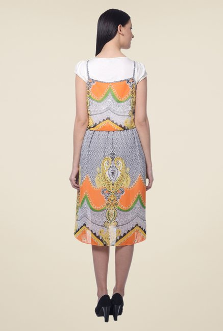 Forever Fashion Multicolor Printed Dress