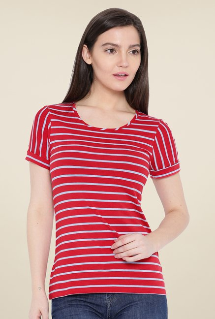 Kraus Red Striped T-Shirt