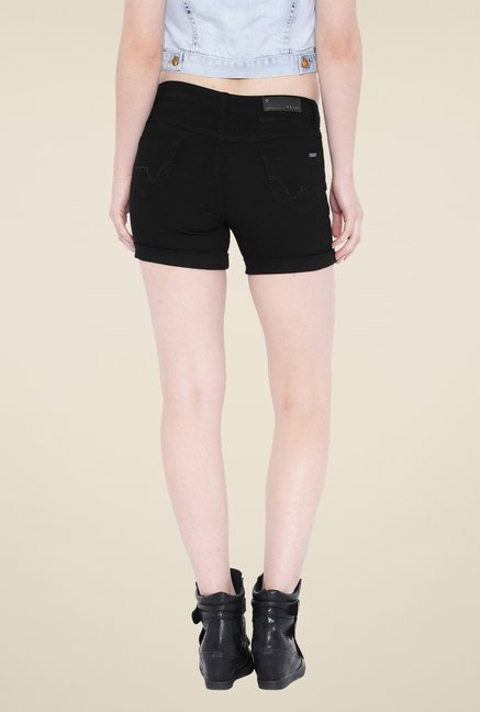 Kraus Black Denim Shorts